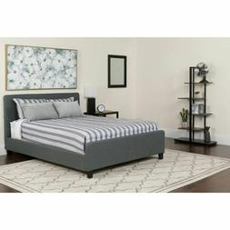 Flash Furniture Fabric And Metal Bed In Dark Gray Finish HG-