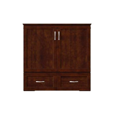 Atlantic Furniture Wood Twin Murphy Bed in Walnut