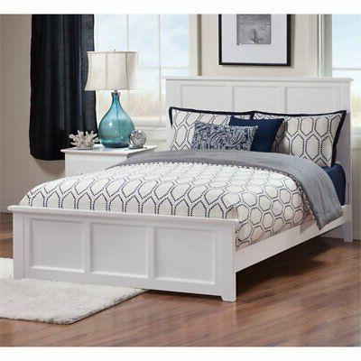madison full panel bed in white