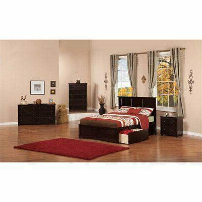 Atlantic Furniture Madison Urban Full Storage Platform in Espresso