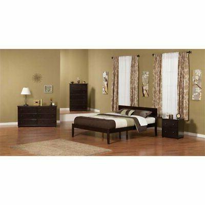 Atlantic Furniture Orlando King Panel Platform Espresso
