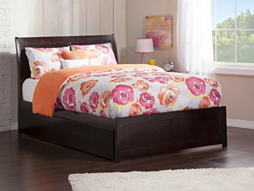 Portland Bed with Panel Foot Urban Trundle, Full, Espresso