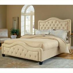 Trieste Fabric Bed - Size: King, Fabric: Buckwheat