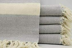 Handmade Turkish Cotton Throw Blanket Large Sofa Throw Blank